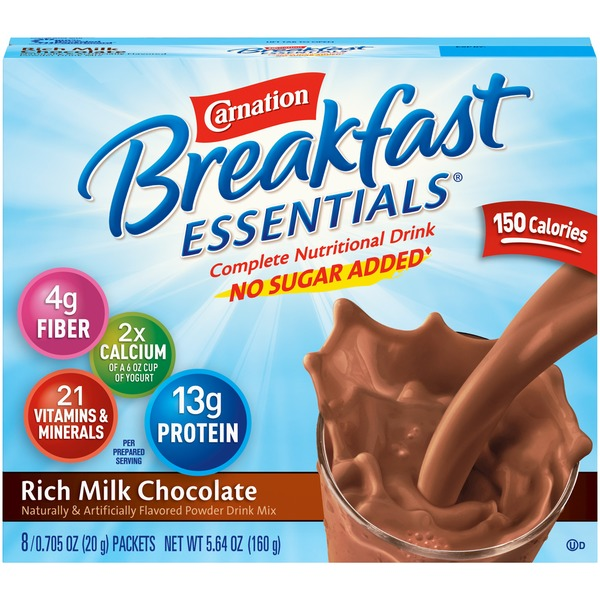 Carnation Breakfast Essentials Light Start Rich Milk Chocolate Complete Nutritional Drink