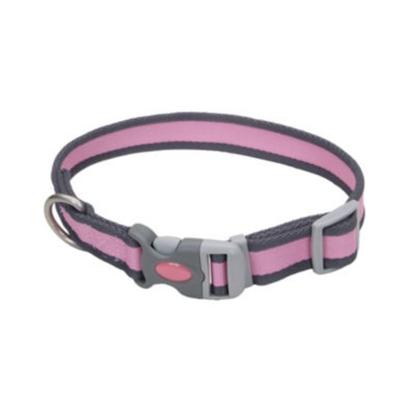 Coastal Pet Pink/Gray Pet Attire Pro Collar 3/4 Inch X 8 12 Inch