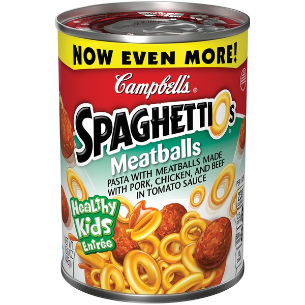 Spaghettios Meatballs Canned Pasta