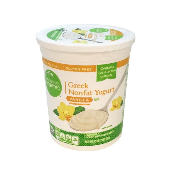 Simple Truth Organic Vanilla Greek Nonfat Yogurt
