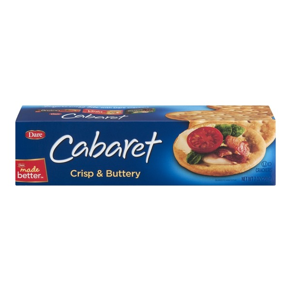 Dare Breton Crisp & Buttery Crackers Cabaret