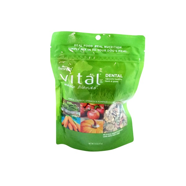 Freshpet Vital Whole Blends Dental Recipe, Mix In Meal Enhancer for Dogs