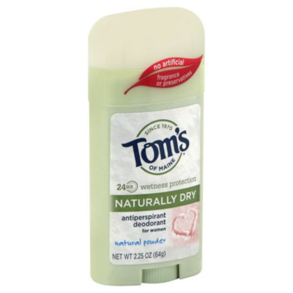 Tom's of Maine Naturally Dry Natural Powder for Women Antiperspirant/Deodorant