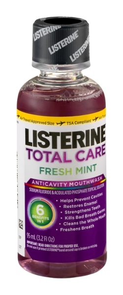 Listerine total care fresh mint mouthwash