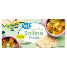 Great Value Unsalted Tops Saltine Crackers, 16 oz, 4 Count