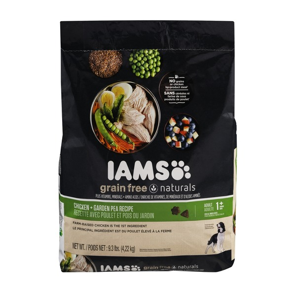 IAMS Grain Free Naturals Dog Food with Chicken + Garden Pea Recipe Adult