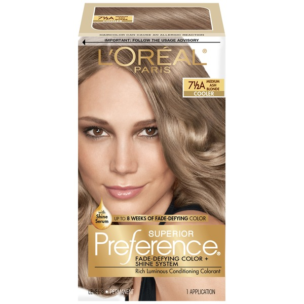 Superior Preference Cooler 7-1/2A Medium Ash Blonde Hair Color