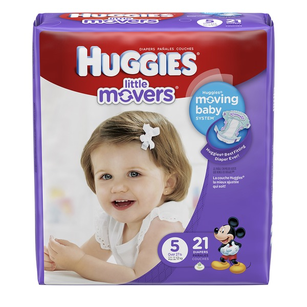 Huggies Supreme Little Movers Size 5 Diapers