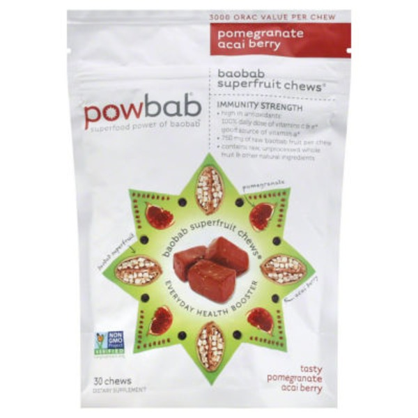 Powbab Superfruit Chews Pomegranate Acai Berry
