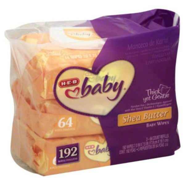 H-E-B Baby Shea Butter Baby Wipes