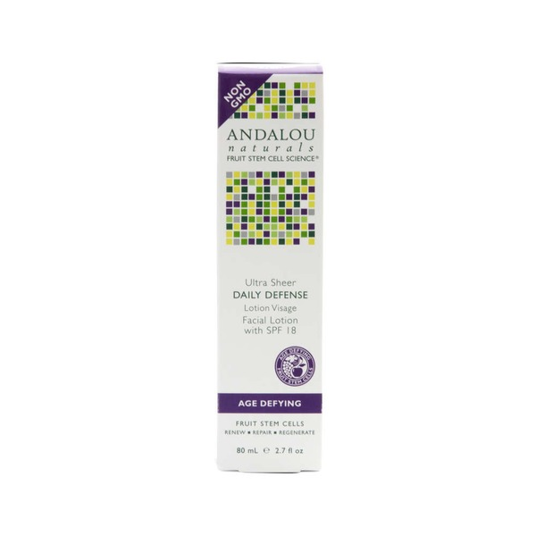 Andalou Naturals Ultra Sheer Daily Defense Facial Lotion SPF 18