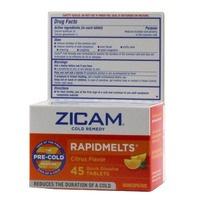 Zicam Rabid Melts Cold Remedy Citrius Flavor