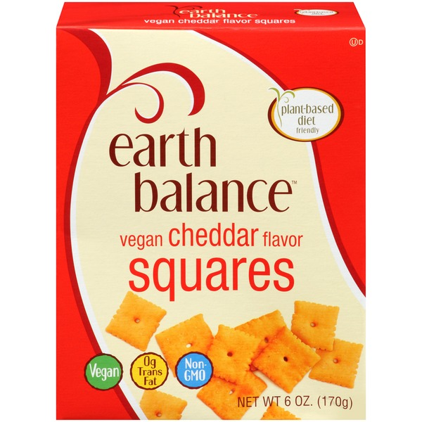 Earth Balance Vegan Cheddar Flavor Squares Crackers