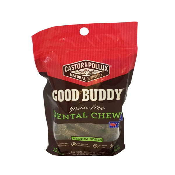 Castor & Pollux Natural Pet Works Good Buddy Medium Dental Chew Dog Treats