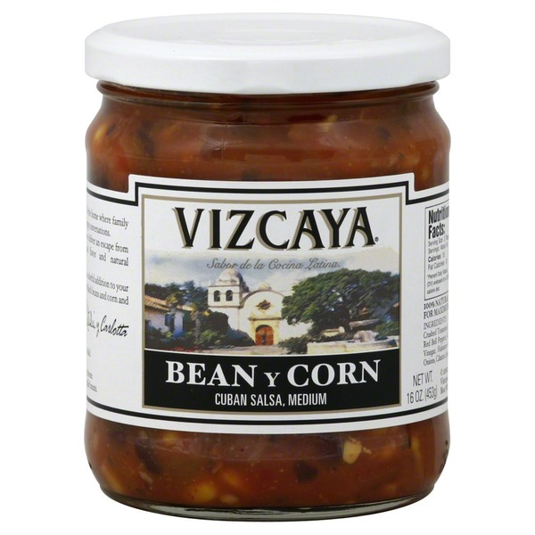Vizcaya Salsa, Cuban, Medium, Bean y Corn
