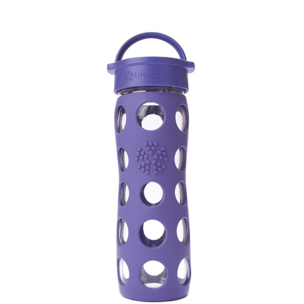 Lifefactory Glass Bottle Royal Purple