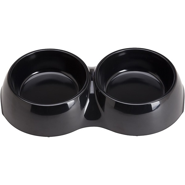 Bowlmates By Petco Medium Black Double Round Base Bowl