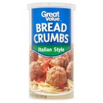 Great Value Italian Style Bread Crumbs, 15 oz