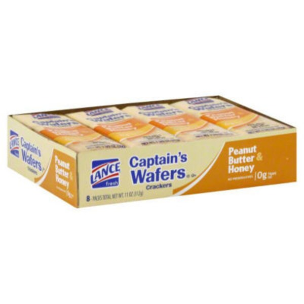 Lance Captain's Wafers Peanut Butter & Honey Sandwich Crackers