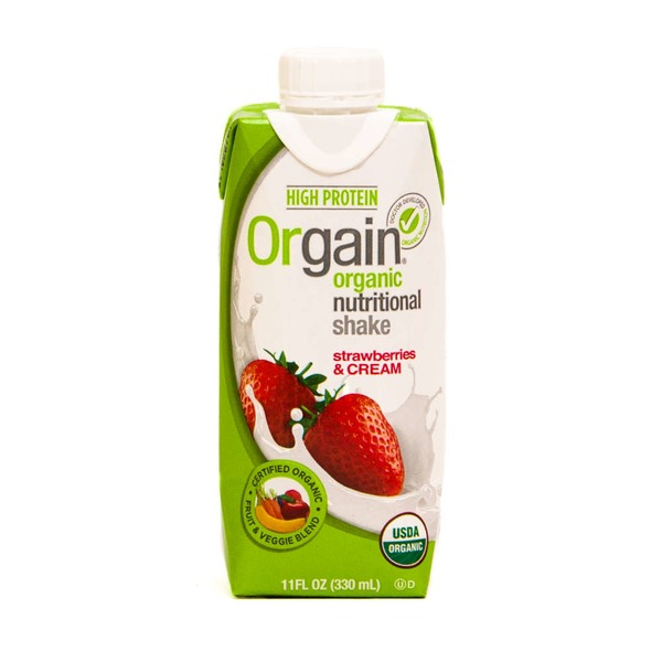 Orgain Organic Nutrition Complete Protein Shake Strawberries & Cream
