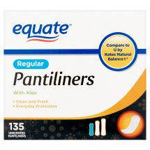 Equate Pantiliners with Aloe, Regular, Unscented, 135 Ct