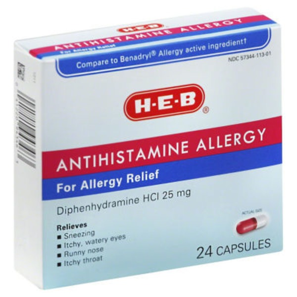 H-E-B Nighttime Sleep Aid Diphenhydramine Hcl 25 Mg Mini Caplets