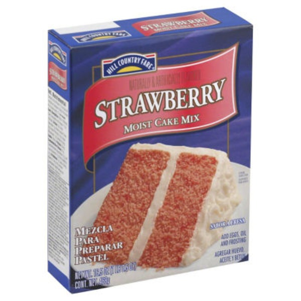 Hill Country Fare Strawberry Moist Cake Mix