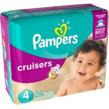 Pampers Cruisers Diapers, Size 4, 24 Diapers
