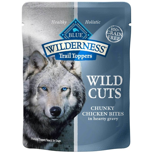Blue Buffalo Healthy Holistic Wilderness Trail Toppers Wild Cuts Chunky Chicken Bites in Hearty Gravy Dog Food