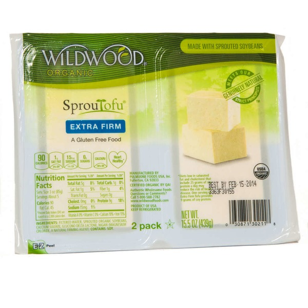 Wildwood Extra Firm Tofu,  2 Pack