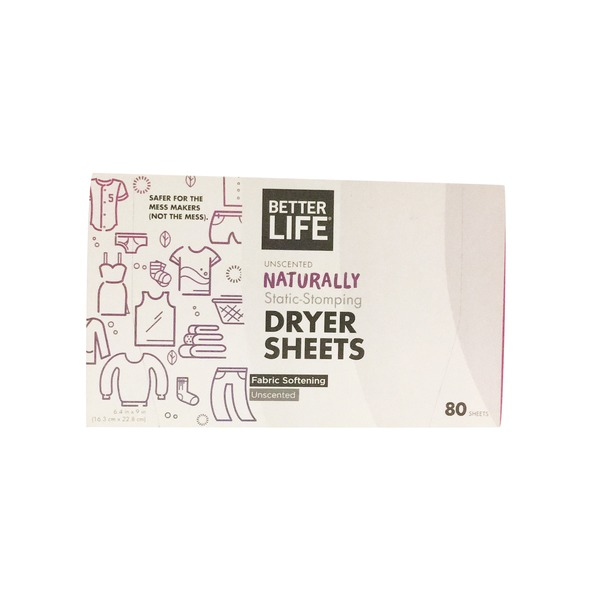 Better Life Unscented Dryer Sheets