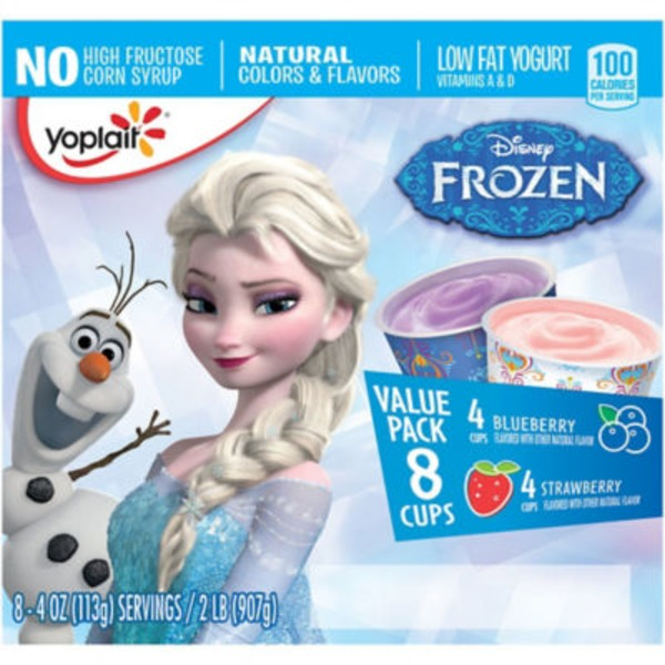 Yoplait Disney Frozen Strawberry/Blueberry Variety Pack Low Fat Yogurt