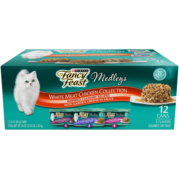 Fancy Feast Medleys White Meat Chicken Recipe Variety Collection Cat Food