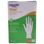 Equate Vinyl Gloves, Large/XLarge, 2 Ct