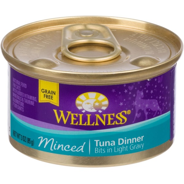 Wellness Grain Free Minced Tuna Dinner Bits in Light Gravy Cat Food