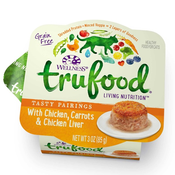 Wellness Tru Food Tasty Pairings Chicken Carrots & Chicken Liver Wet Cat Food 3 Oz. Case Of 24
