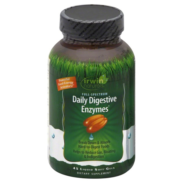 Irwin Naturals Daily Digestive Enzymes, Liquid Soft-Gels