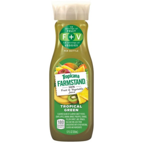 Tropicana Farmstand Tropical Green Vegetable & Fruit Juice