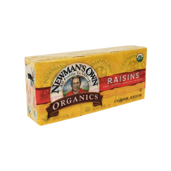 Newman's Own Snack Size Mini Boxes Organic Raisins
