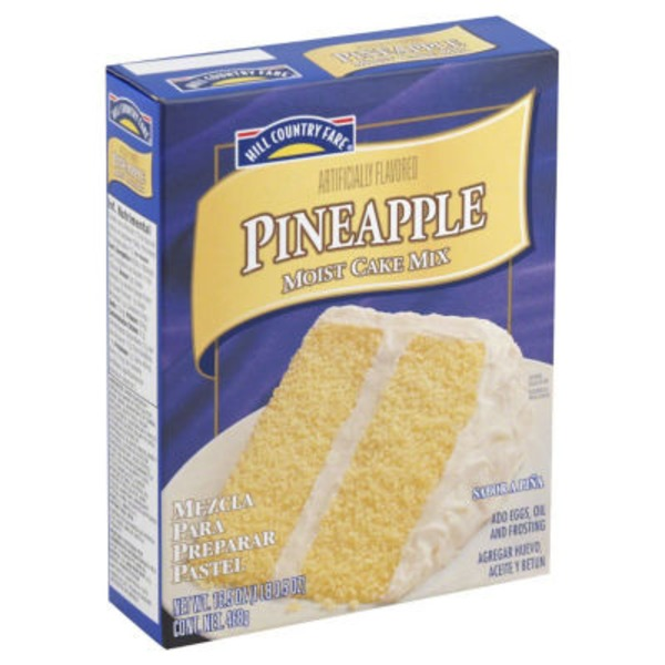 Hill Country Fare Pineapple Moist Cake Mix