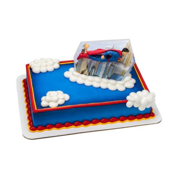 Superman 1/4 Sheet Cake