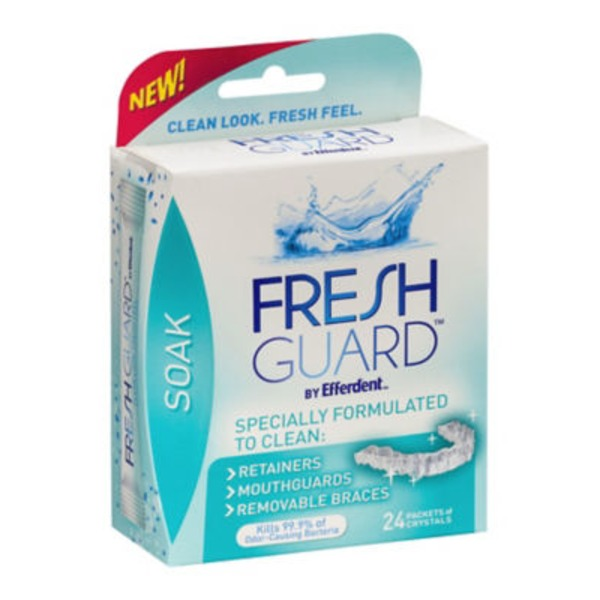 Fresh Guard By Efferdent Soak Packets of Crystals - 24 CT
