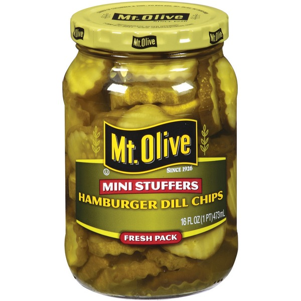 Mt. Olive Hamburger Dill Chips Mini Stuffers Fresh Pack Pickles
