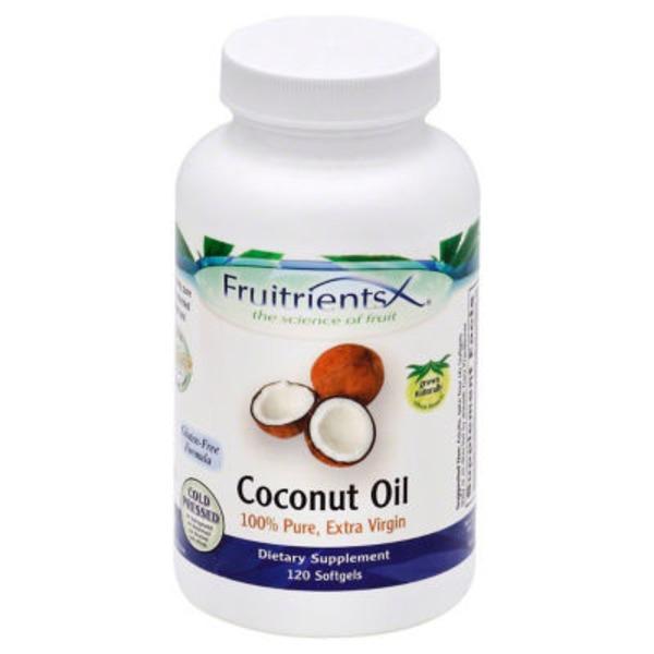 FruitrientsX Coconut Oil Softgels Bottle