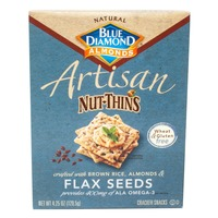 Blue Diamond Almonds Artisan Flax Seeds Nut & Rice Cracker Snacks
