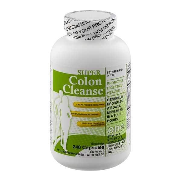 Colon Cleanse Super Colon Cleanse Psyllum Supplement With Herbs Capsules - 240 CT
