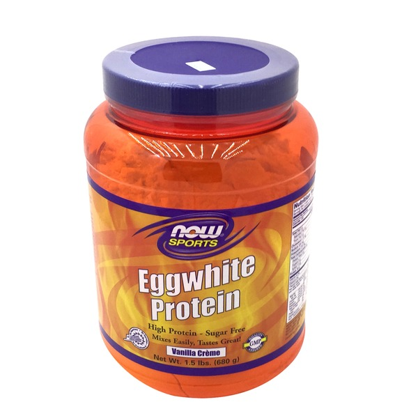 Now Eggwhite Protein Powder Vanilla Creme