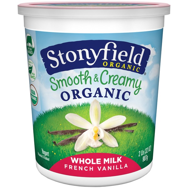 Stonyfield Organic Organic Smooth & Creamy Whole Milk French Vanilla Yogurt