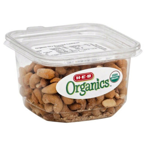 H-E-B Organic Dry Roasted Cashews, Salted