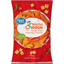 Great Value Nacho Cheese Tortilla Chips, 19 oz